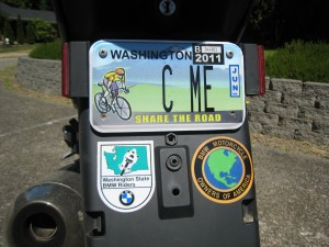 Share the Road License Plate | Edmonds Bicycle Advocacy Group
